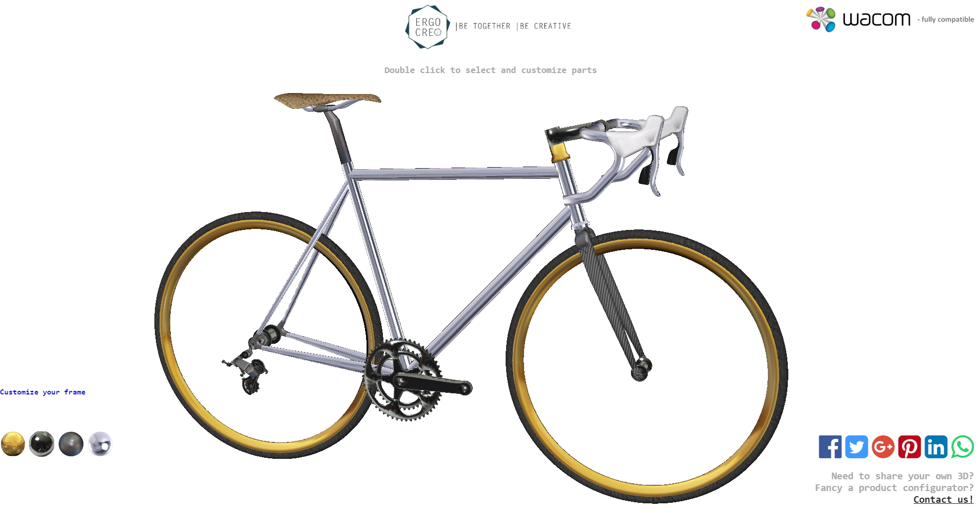 3D Bicycle Product Configurator Service - Ergo Creo